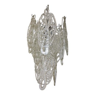 Murano Cobweb Chandelier by Vistosi For Sale