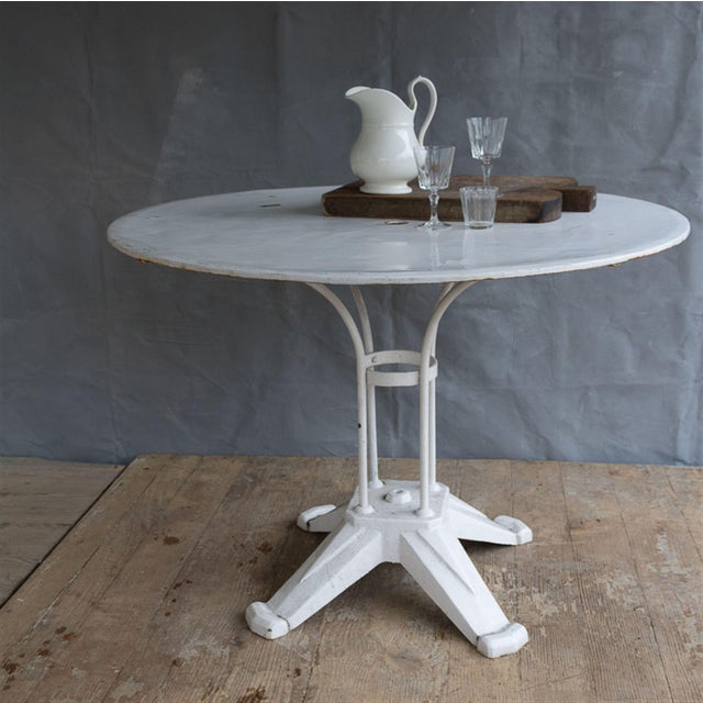 Vintage Cast Iron Bistro Table - Image 3 of 7