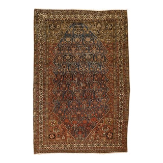 "Antique Southwest Persian Rug, 4'3"" X 6' 3"" For Sale"