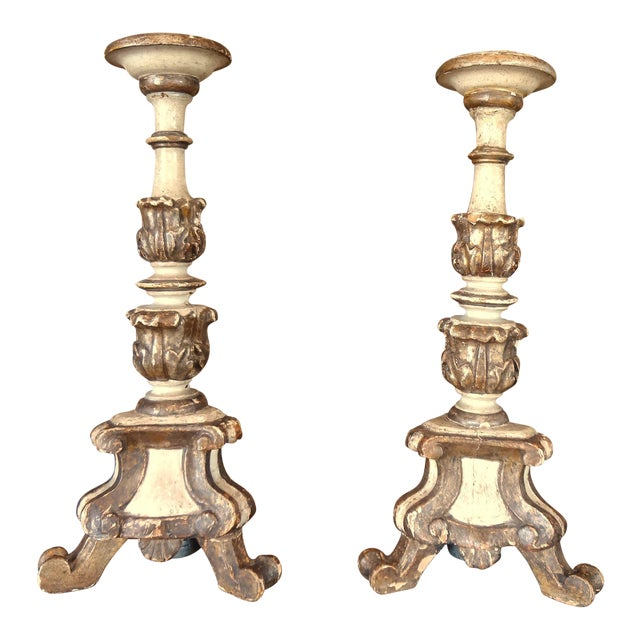 19th Century Italian Candle Holder, Pair For Sale