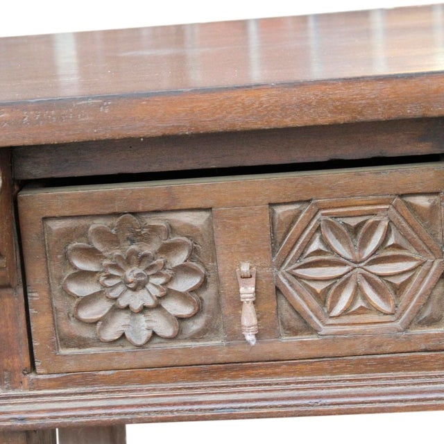 Spanish Colonial Style Console Table - Image 4 of 6