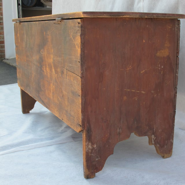 Original Red Painted Blanket Chest For Sale - Image 9 of 11