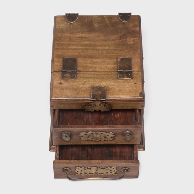 Chinese Double Bat Jewelry Chest For Sale In Chicago - Image 6 of 10