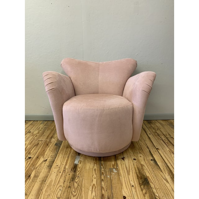 1980s Vintage Vladimir Kagan Style Lounge Chair For Sale In Philadelphia - Image 6 of 6