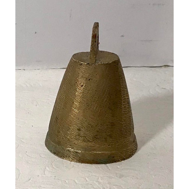 Vintage Mid Century Brass Bell For Sale - Image 9 of 9