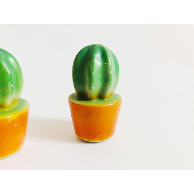 Vintage Ceramic Cactus Salt and Pepper Shakers For Sale - Image 4 of 7