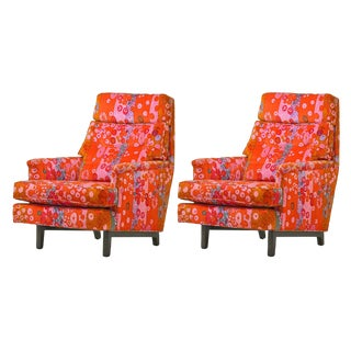 Pair of Edward Wormley for Dunbar Lounge Chairs For Sale