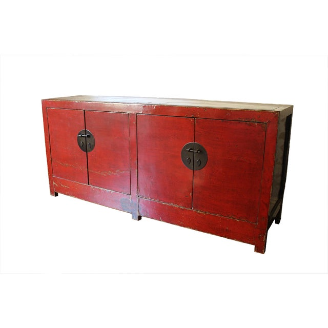 Antique Lacquered Chinese Sideboard - Image 1 of 10