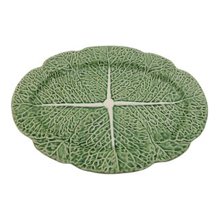 1970s Bordallo Pinheiro Large Cabbage Serving Plate For Sale
