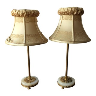 French Boudoir Lamps - a Pair