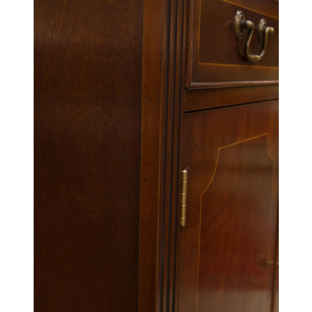 Imported from England, this beautifully crafted cabinet has beautiful inlay on doors and is the perfect size for a small...