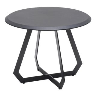 Modern The Fetish Table With Black Leather - Black