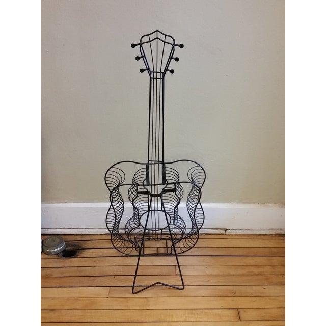 Vintage Metal Guitar Sculpture - Image 7 of 7