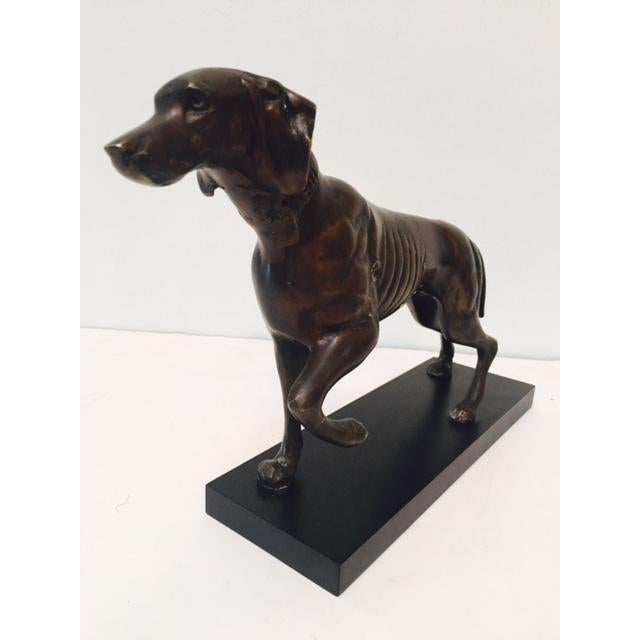 Bronze Hunting Dog Pointing Statue - Image 6 of 6