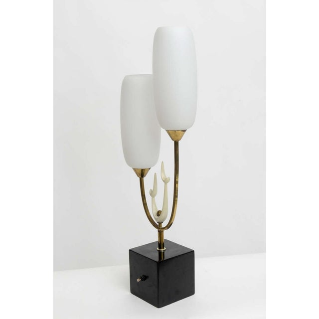 Arteluce Italian Modern Brass Enamel and Glass Lamp, Arteluce For Sale - Image 4 of 9