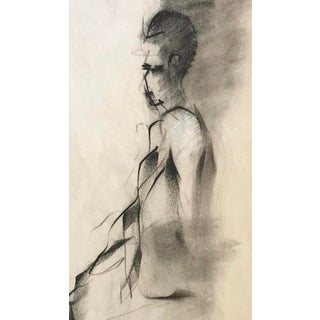 Vintage Figurative Charcoal Drawing Preview
