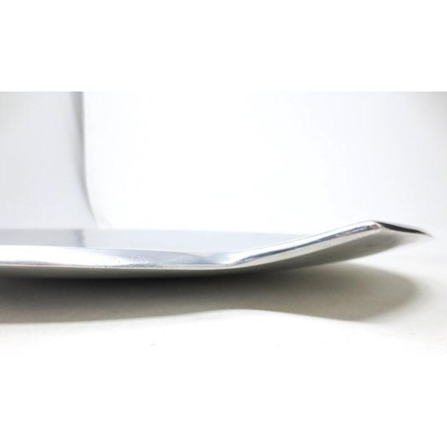 Aluminum Smith Celetano Nambe 632 Spiral Tray Platter For Sale - Image 7 of 11
