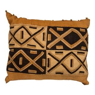 African Kuba Cloth Toss Pillow For Sale