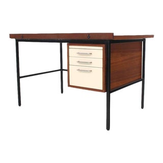 Vintage Mid Century Walnut Lift Top Desk Drafting Table For Sale