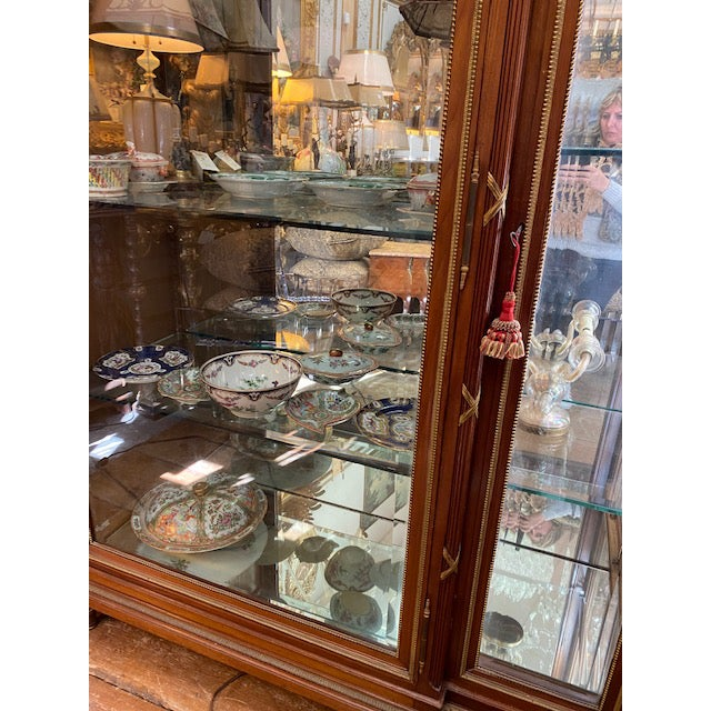 Late 19th Century 19th Century French Brozne Walnut and Bronze China Cabinet For Sale - Image 5 of 13