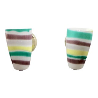 Murano Glass 1960's Sconces - A Pair For Sale
