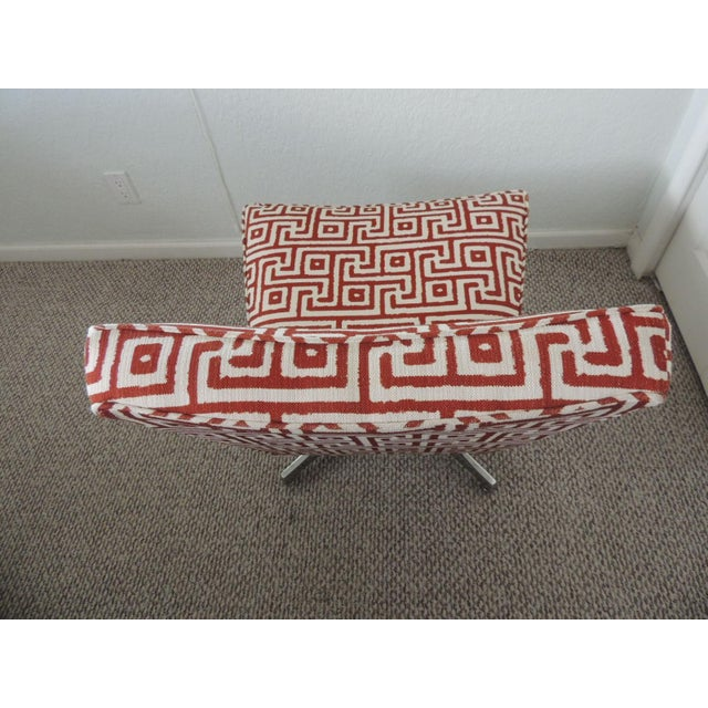 2000 - 2009 Mitchell Gold + Bob Williams Red and Natural Accent Chair For Sale - Image 5 of 7