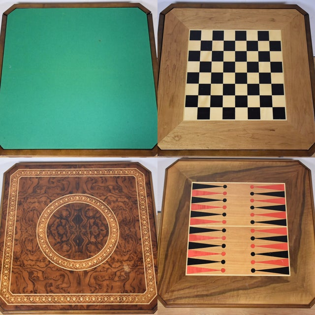 Italian Game Table Set - Image 3 of 11