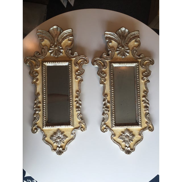 Vintage Venetian Mirrors - a Pair - Image 2 of 6