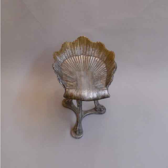 19th Century Italian Silver and Gold Gilt Cherrywood Grotto Seat For Sale - Image 4 of 13