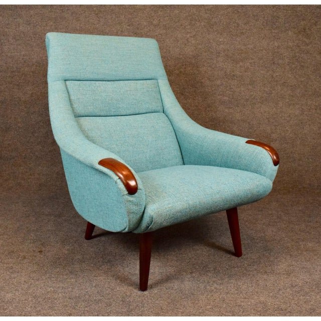 Here is an amazing 1960s Scandinavian modern easy chair recently imported from Copenhagen to California before its full...