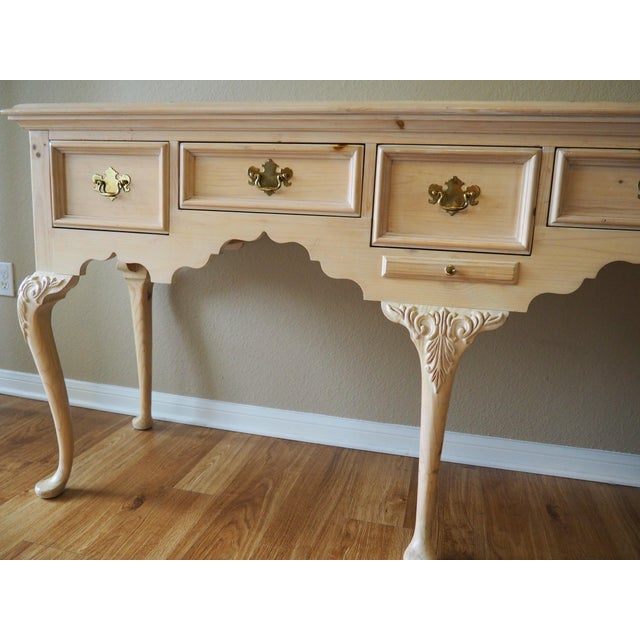 1990s Shabby Chic Lexington Link Taylor Console Table For Sale - Image 11 of 13