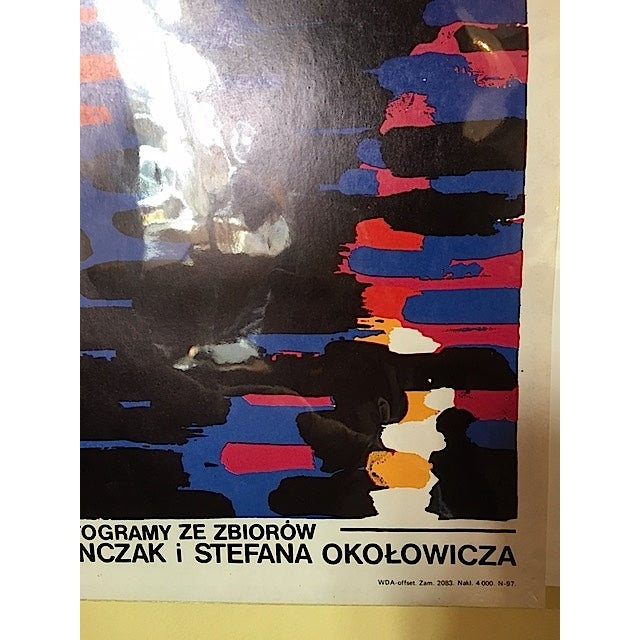 1985 Orignal Polish Witkasy Exhibition Poster For Sale - Image 4 of 4