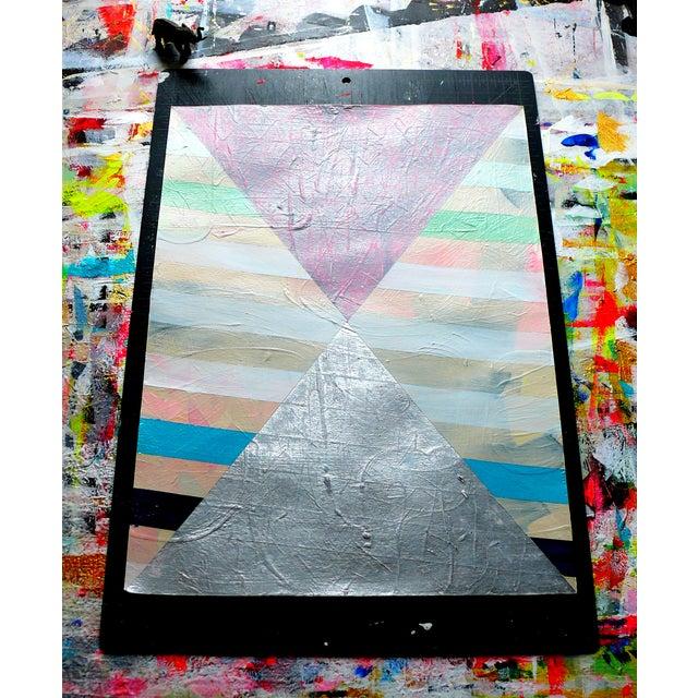 NY15 #17 Original Geometric Painting - Image 5 of 6