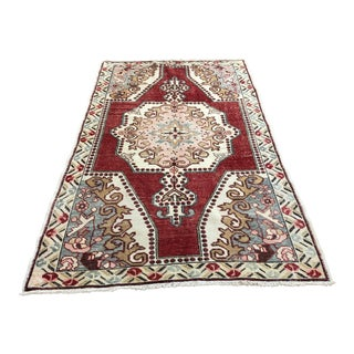 "1940s Turkish Oushak Wool Rug - 4'5""x7'3"""