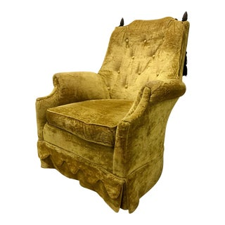 Vintage, Mid-Century Gold Armchair For Sale