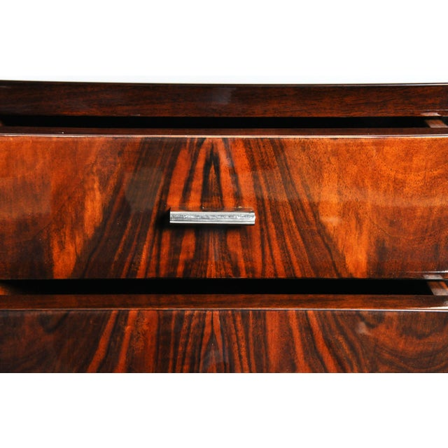 Art Deco Style Chest of Drawers with Curved Sides - Image 9 of 11