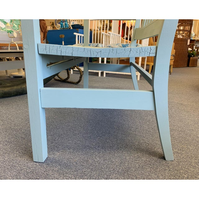 1940s Vintage Farmhouse Chic Solid Oak Bench For Sale - Image 10 of 13