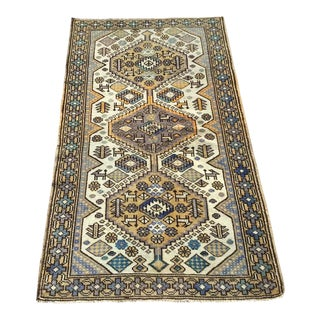 Vintage Turkish Hand Knotted Rug For Sale