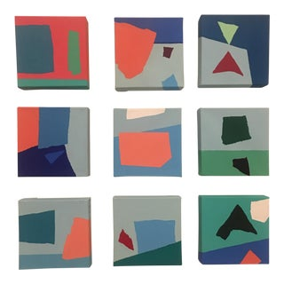 Abstract Original Set of Paintings by Brooks Burns - Set of 9 For Sale