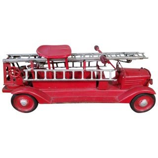 Large-Scale Keystone Ride-On Toy Fire Truck For Sale
