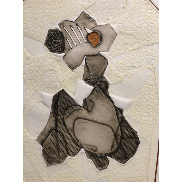 Mid Century Italian Metal Relief Abstract For Sale In New York - Image 6 of 10
