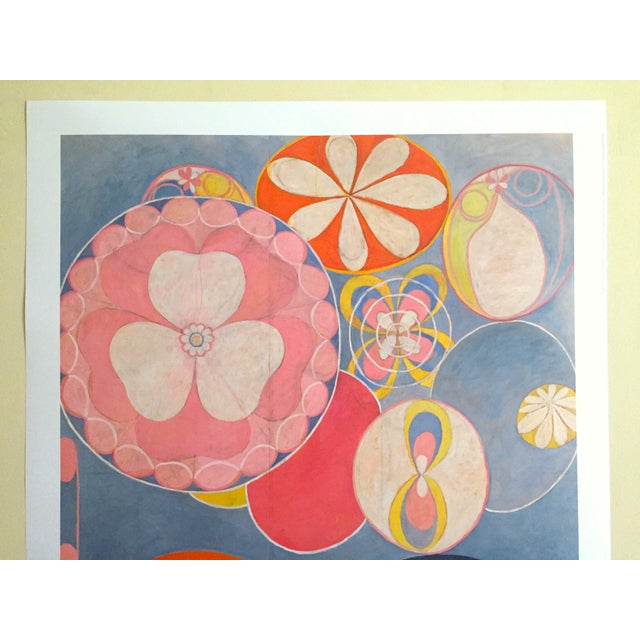 """This Hilma Af Klint Swedish Abstract lithograph print Moderna Museet exhibition poster """" The Ten Largest, Childhood No.2..."""