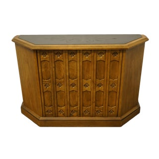 Drexel Heritage Esperanto Collection Spanish Revival Accent Console Cabinet W. Slate Top 481-443 For Sale