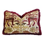 """Clarence House Griffin Fabric Feather/Down Pillow 24"""" X 16"""""""