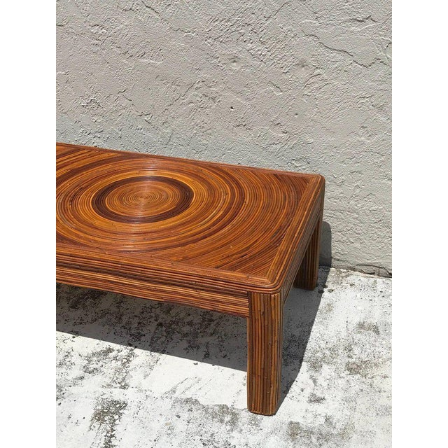 Crespi Style Split Bamboo Long Coffee Table For Sale - Image 10 of 11