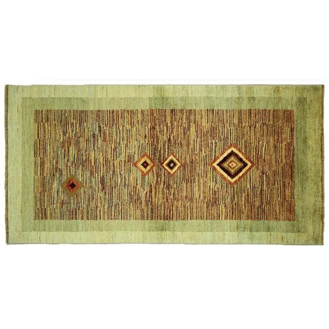 New Oushak Green Chobi Area Rug - 3' x 6' - Image 1 of 9
