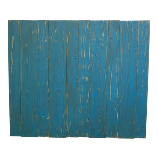 Teal Weathered Look Twin Headboard Hanger Style