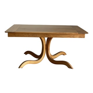 Arts and Crafts Studio Craft Walnut Dining Table by Michael Kelly For Sale