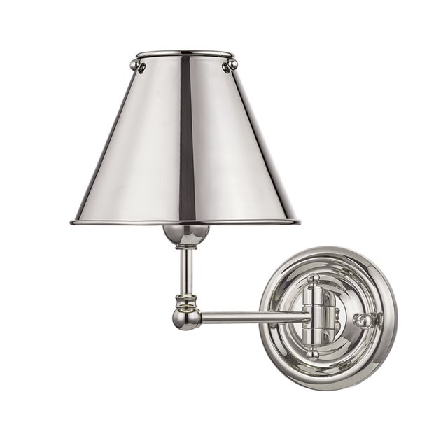 Transitional Classic No.1 1 Light Wall Sconce With Metal Shade For Sale - Image 3 of 3