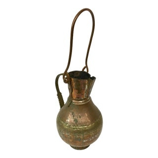 French Copper Brass Silver Pot For Sale